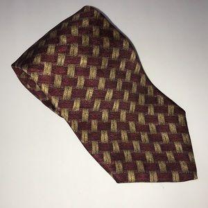 PARISIAN SIGNATURE Basket Weave SILK Necktie~Tie